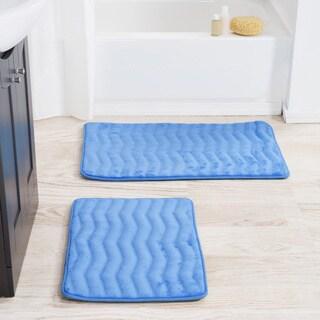 Windsor Home 2 Piece Memory Foam Bath Mat Set