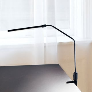 Contemporary Clamp LED Desk Lamp, 41-inch, Black