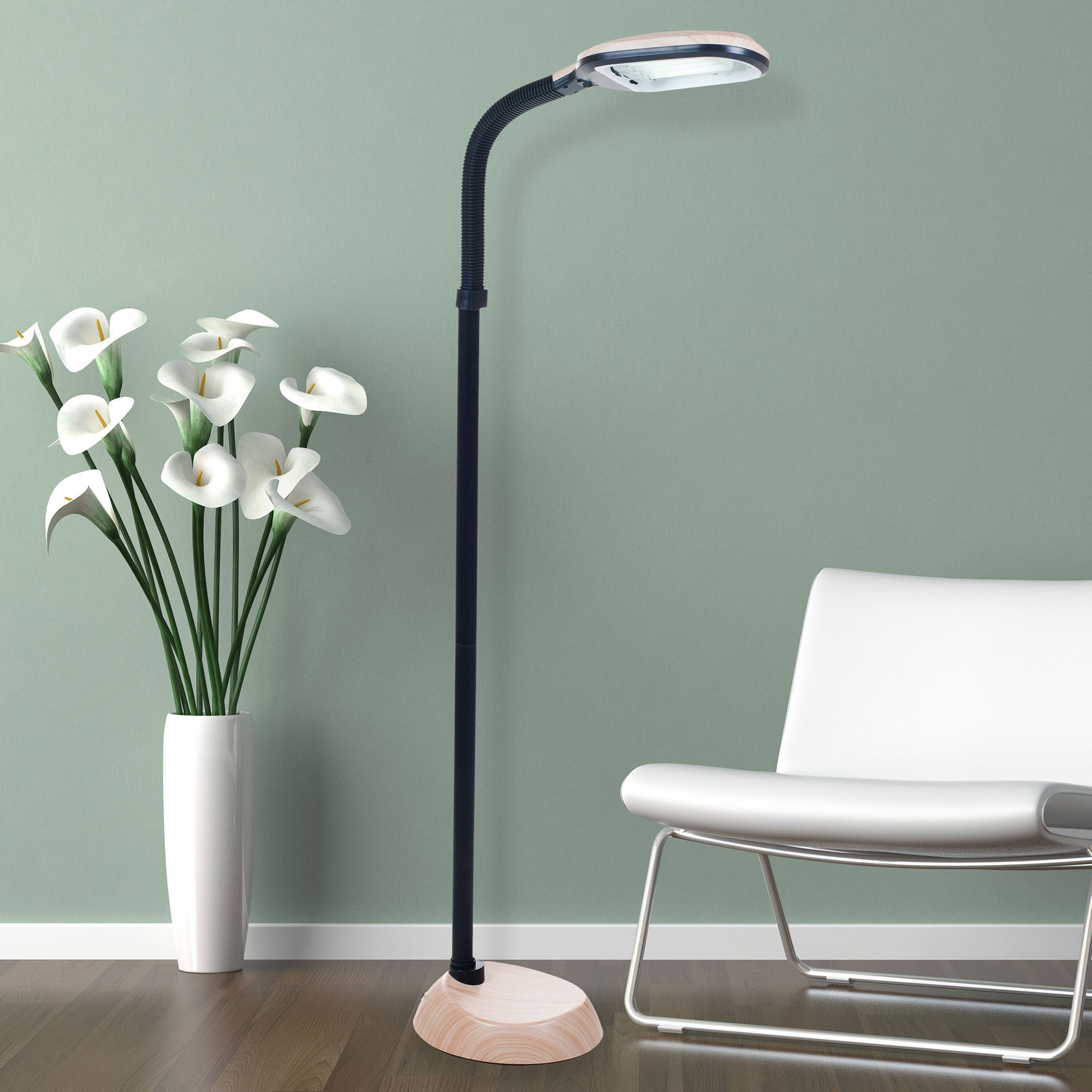 Natural Full Spectrum Sunlight Therapy Reading Floor Lamp...