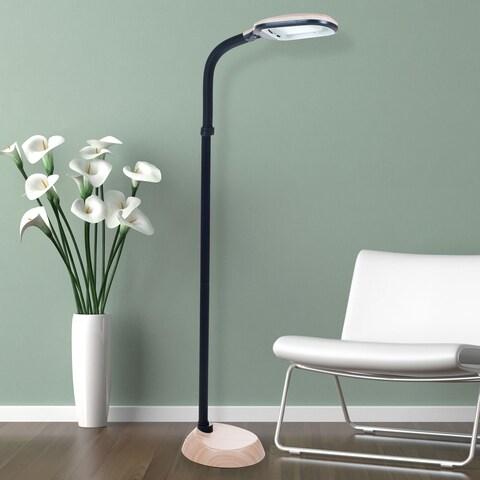 Natural Full Spectrum Sunlight Therapy Reading Floor Lamp by Windsor Home (Light Woodgrain, 5 Feet)
