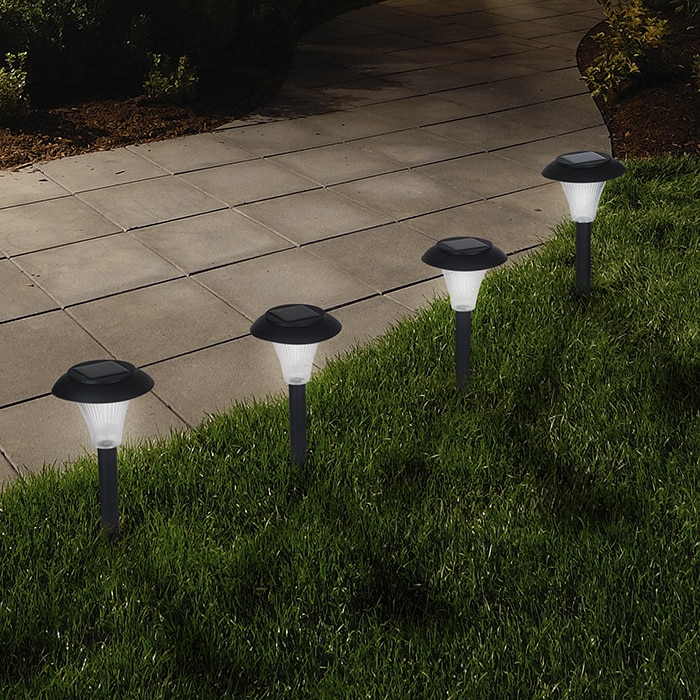 Trademark Pure Garden Solar Powered Black Accent Lights -...