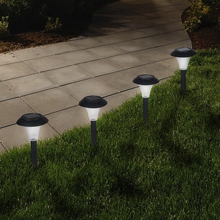 Solar lighting for less overstock pure garden solar powered black accent lights set of 8 aloadofball