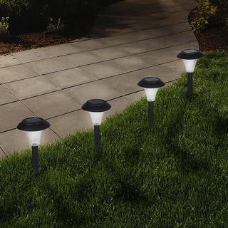 Solar lighting for less overstock pure garden solar powered black accent lights set of 8 aloadofball Images