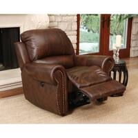 Abbyson Sterling Top Grain Leather Power Recliner Arm Chair
