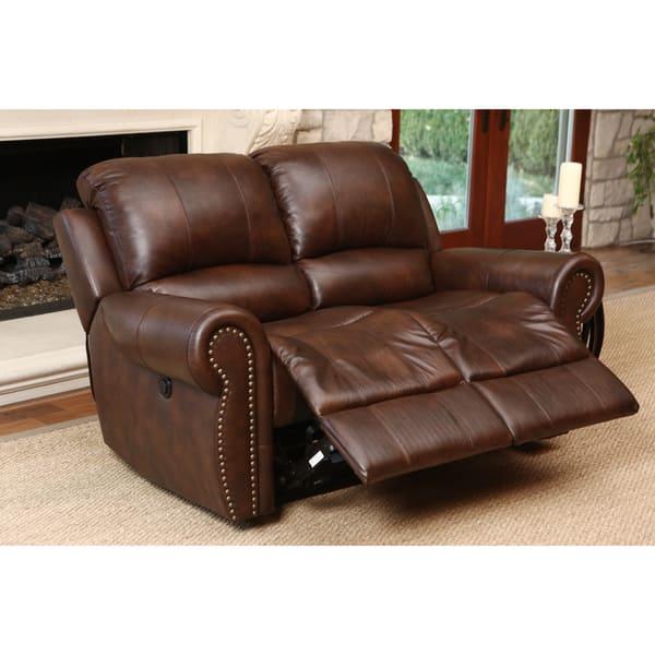 Wondrous Shop Abbyson Sterling Top Grain Leather Power Reclining Inzonedesignstudio Interior Chair Design Inzonedesignstudiocom
