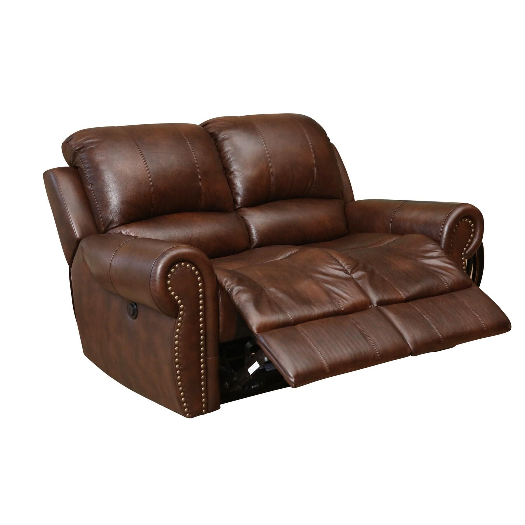 Fabulous Abbyson Sterling Top Grain Leather Power Reclining Loveseat Inzonedesignstudio Interior Chair Design Inzonedesignstudiocom