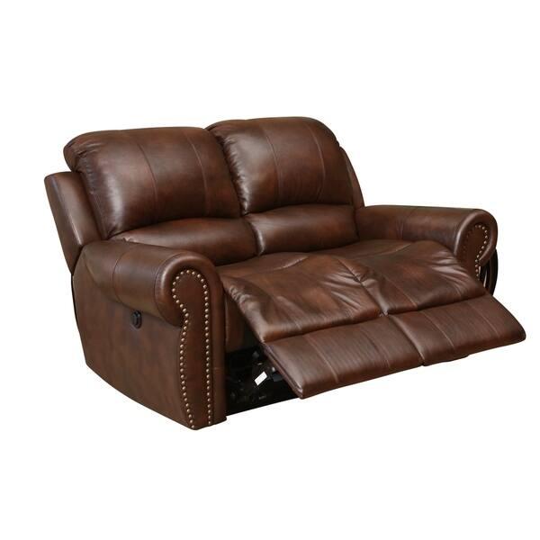 Cool Shop Abbyson Sterling Top Grain Leather Power Reclining Inzonedesignstudio Interior Chair Design Inzonedesignstudiocom