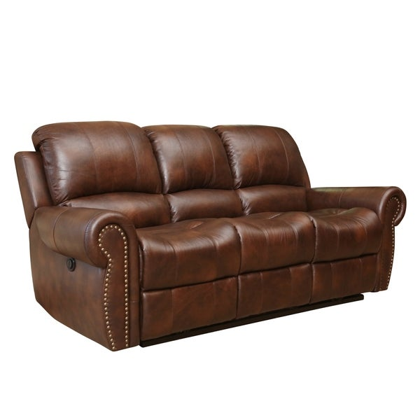 Abbyson Sterling Top Grain Leather Power Reclining Sofa  : Abbyson Living Sterling Top Grain Leather Power Reclining Sofa 7f45f649 b08d 40bc 8a6d 6f20538f7848600 from www.overstock.com size 600 x 600 jpeg 24kB