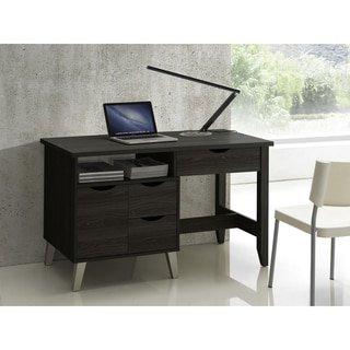 Baxton Studio Mckenzie Contemporary 3-drawer Dark Brown Wood Study Desk