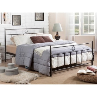 Baxton Studio Ester Contemporary Dark Bronze Victorian Iron Metal Platform Bed