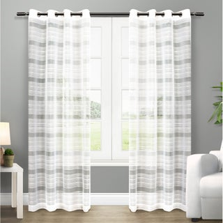 ATI Home Michel Window Curtain Panel Pair with Grommet Top (3 options available)