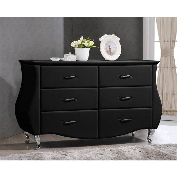 black modern dresser shop baxton studio enzo modern and contemporary black faux 10866