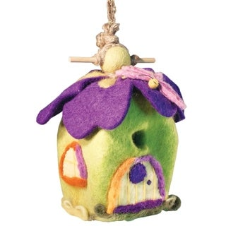 Global Crafts Wild Woolies Pixie House Felt Birdhouse (Nepal)