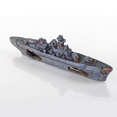 BioBubble Decorative Sunken Battleship