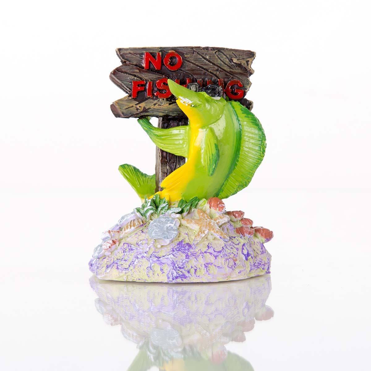 """Zune BioBubble Decorative No Fishing Sign (3"""" x 2.75"""" x 4"""")"""