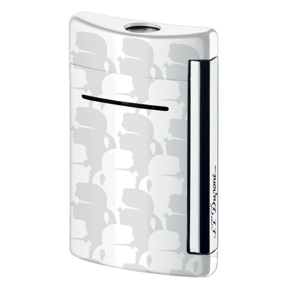 ST Dupont Minijet Chrome Karl Lagerfeld Torch Flame Lighter