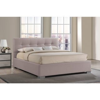 Regata Modern and Contemporary Beige Fabric Upholstered Platform Bed