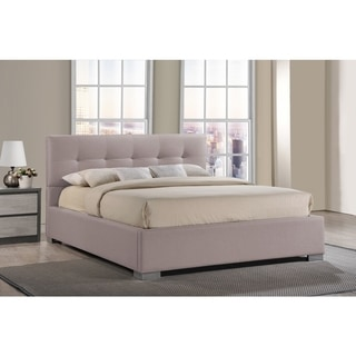 Baxton Studio Regata Contemporary Beige Fabric Upholstered Platform Bed