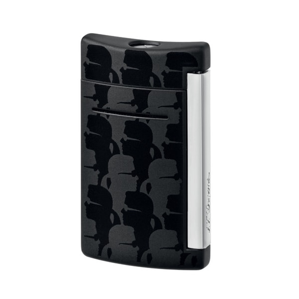 ST Dupont Minijet Black Matte Karl Lagerfeld Torch Flame Lighter