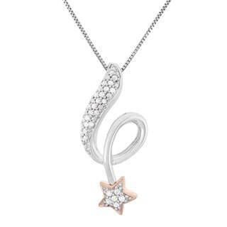 Sterling Silver 1/5ct TDW White Diamond Star Fashion Pendant (H-I, I1-I2)