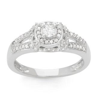 14K White Gold 1/2ct TDW Diamond Bridal Ring