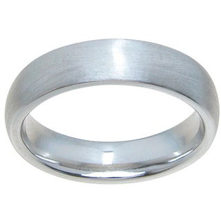 Sterling Silver Venetian Finish 5mm Dome Style Plain Wedding Band