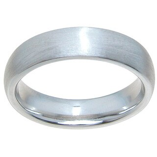 Sterling Silver Venetian Finish 5mm Plain Dome Style Wedding Band