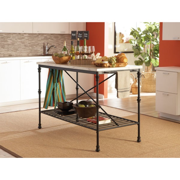 Coaster Company French Bistro Counter Height Kitchen Island   Free