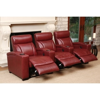 Abbyson Living Westin Red Power Media Recliners