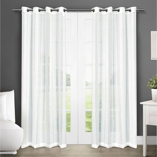 ATI Home Apollo Grommet Top Sheer Curtain Panel Pair