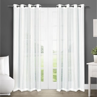 Apollo Grommet Top Sheer Curtain Panel Pair