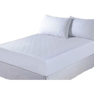 Quilted Cotton Synthetic Mattress Protector - White