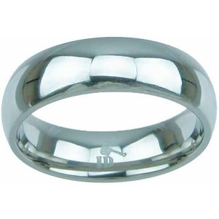 Titanium High Polish Dome Style 6mm Men's Wedding Band