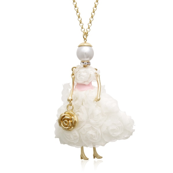 Here Comes The Bride Doll Necklace, 28 Inches
