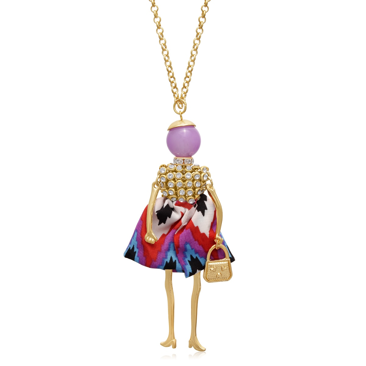 Adoriana Girls Just Wanna Have Fun Doll Necklace, 28 Inch...