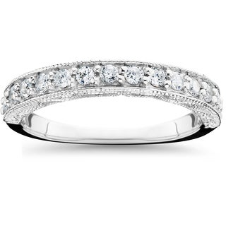 14k White Gold 1/ 2ct TDW Diamond Wedding Ring (I-J,I2-I3)