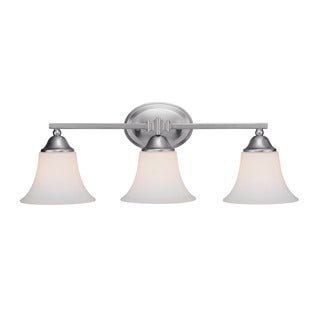 Capital Lighting Town and Country Collection 3-light Matte Nickel Bath/ Vanity Light