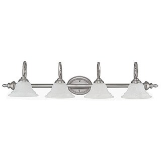 Capital Lighting Chandler Collection 4-light Matte Nickel Bath/Vanity Light