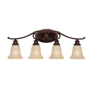 Capital Lighting Hill House Collection 4-light Burnished Bronze Bath/Vanity Light