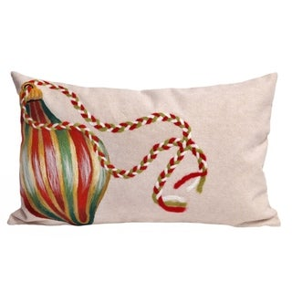 "Deck The Halls Throw Pillow (12"" x 20"")"