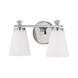 Capital Lighting Alisa Collection 2-light Polished Nickel Bath/Vanity Light