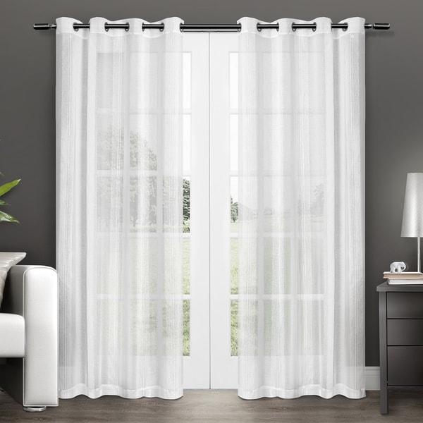 ATI Home Penny Grommet Top Sheer Curtain Panel Pair