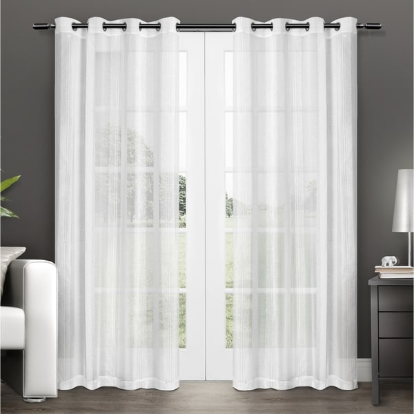 Shop ATI Home Penny Sheer Grommet Top Curtain Panel Pair