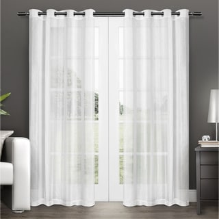 Link to ATI Home Penny Sheer Grommet Top Curtain Panel Pair Similar Items in Window Treatments
