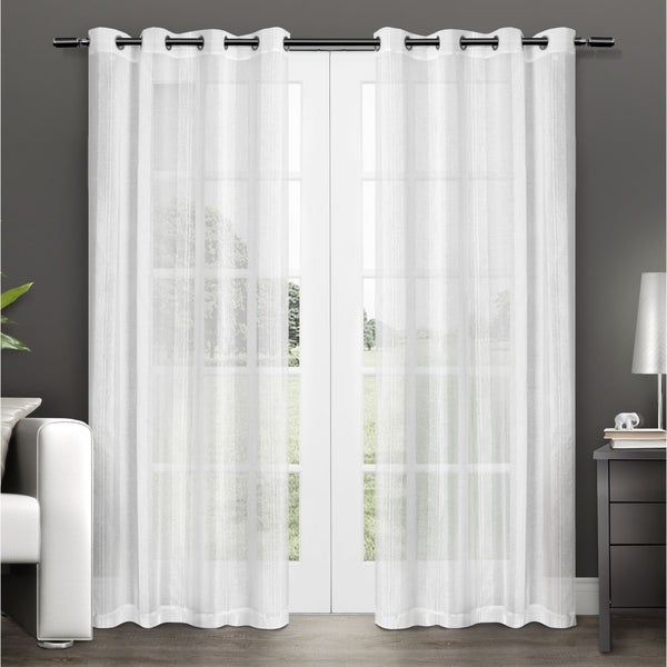 ATI Home Penny Sheer Grommet Top Curtain Panel Pair. Opens flyout.