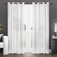 ATI Home Penny Grommet Top Sheer Curtain Panel Pair