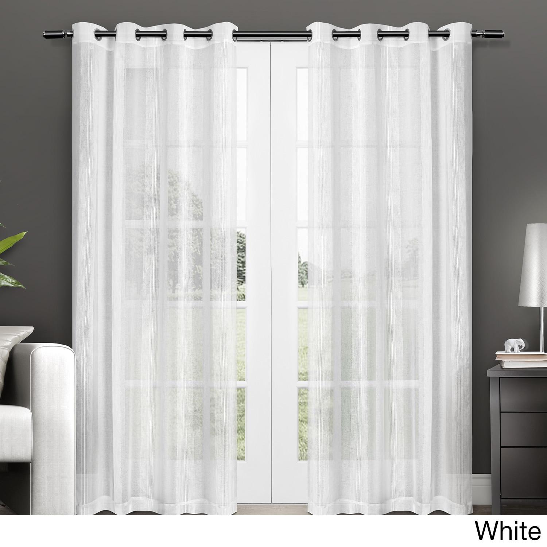 ATI Home Penny Grommet Top Sheer Curtain Panel Pair (Penn...