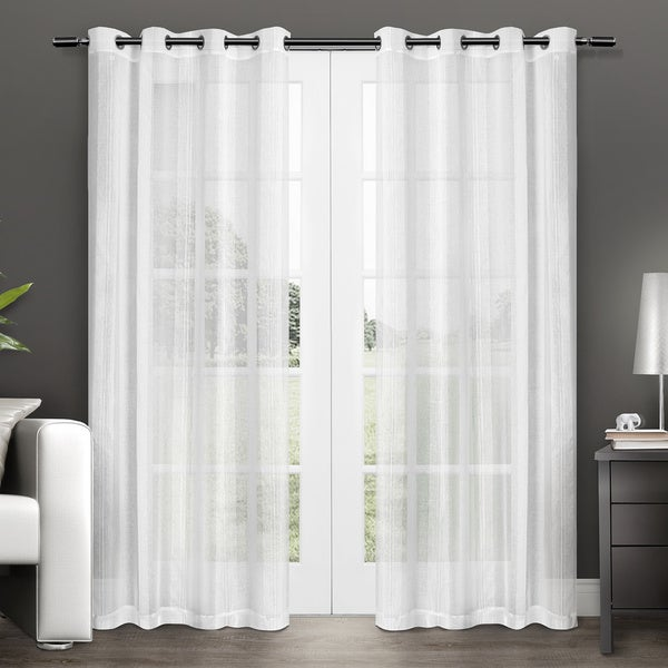 Ati Home Penny Grommet Top Sheer Curtain Panel Pair Free