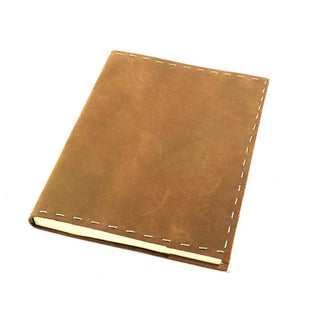 Handmade Refillable Leather Journal with Edge Stitching (India)