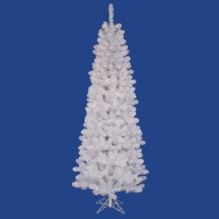 "9.5' x 44"" White Salem Pencil Pine Tree with 450 frosted Italian LED Lights"